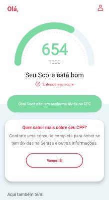 Score de Crédito no app de consulta ao CPF